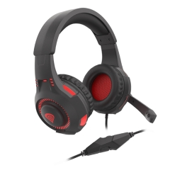 Gaming Headset for PS4, PC, Xbox One Controller, Noise Cancelling Over Ear Headphones with Mic, LED Light, Bass Surround, Soft Memory Earmuffs